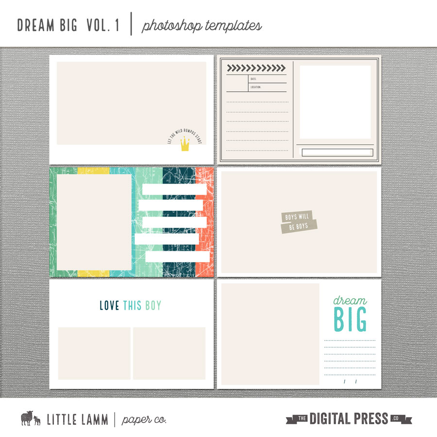 Dream Big | Photoshop Templates Vol. 1