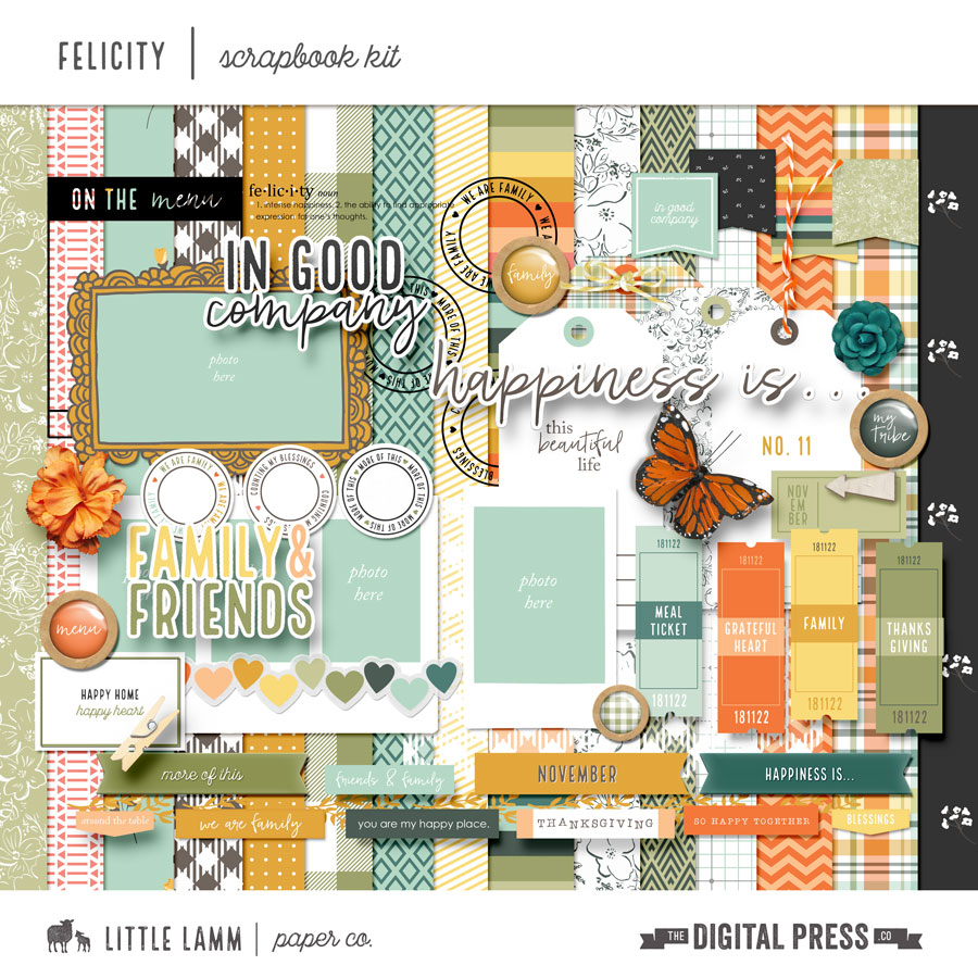 Felicity | Scrapbook Kit