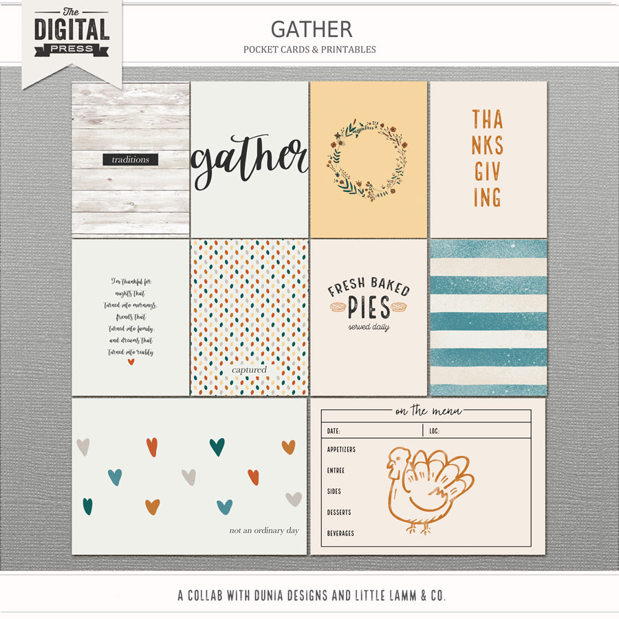 Gather | Pocket Cards & Printables