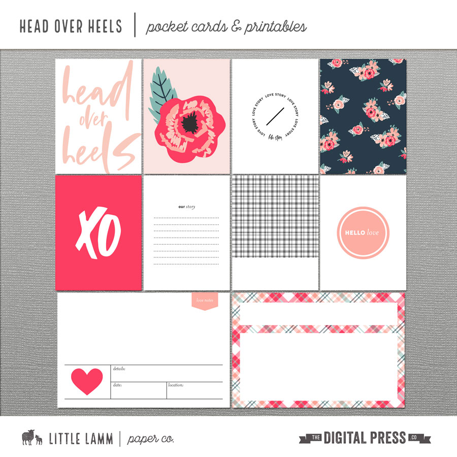 Head Over Heels | Pocket Cards and Printables
