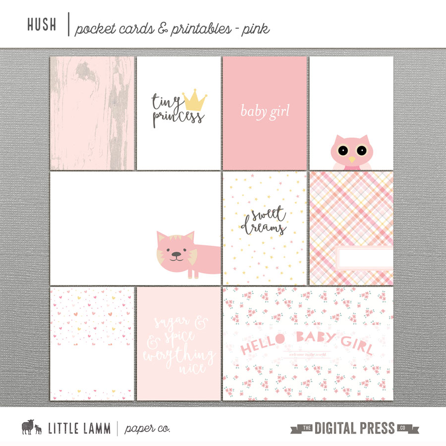 Hush | Girl Pocket Cards & Printables