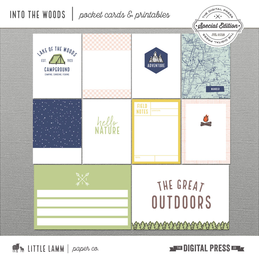 Into The Woods│Pocket Cards and Printables