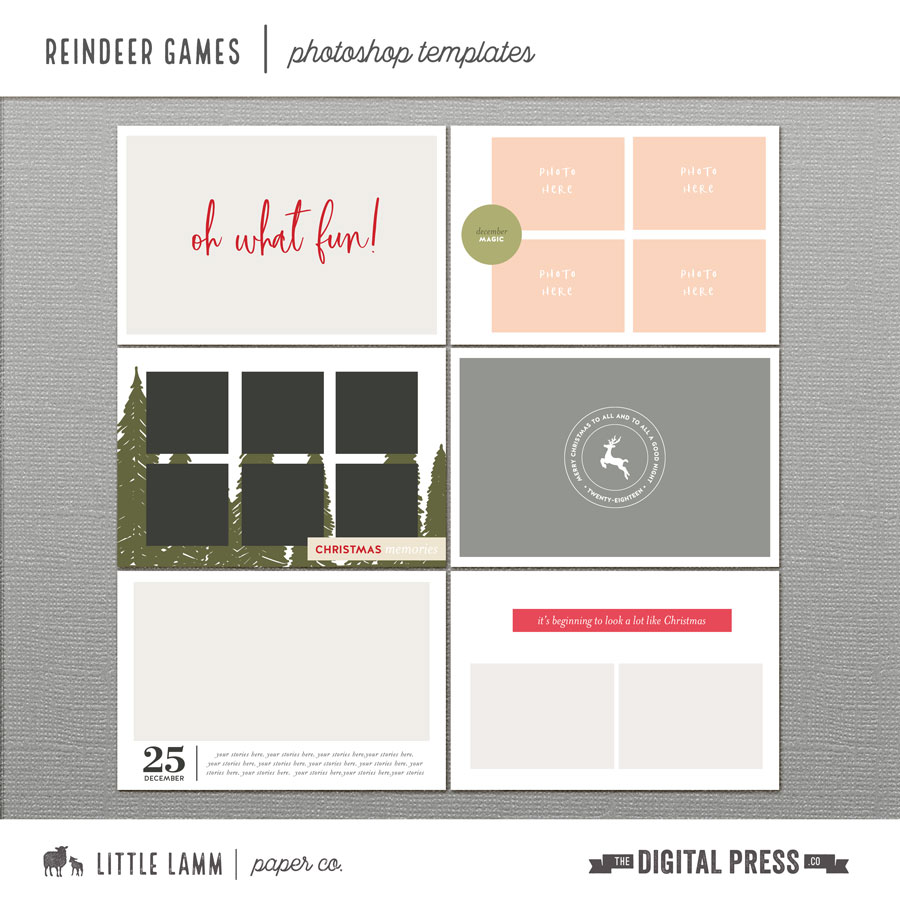 Reindeer Games | Photoshop Templates