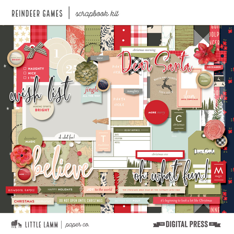 Reindeer Games | Scrapbook Kit