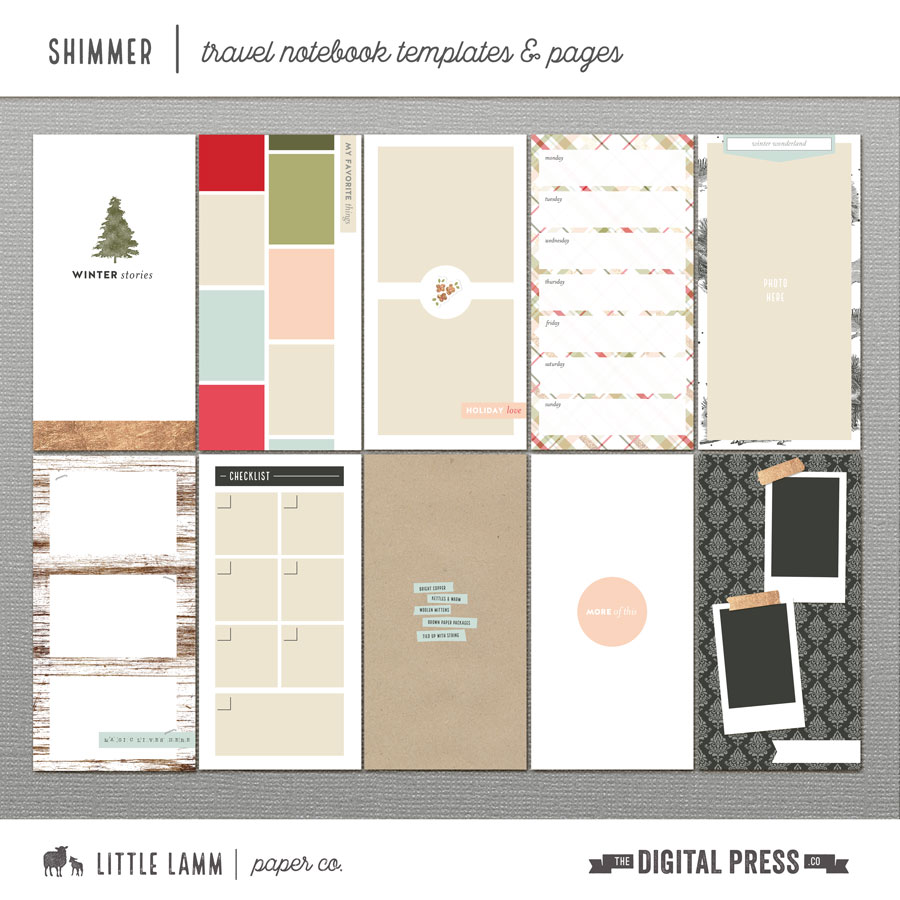 Shimmer | Travel Notebook Templates