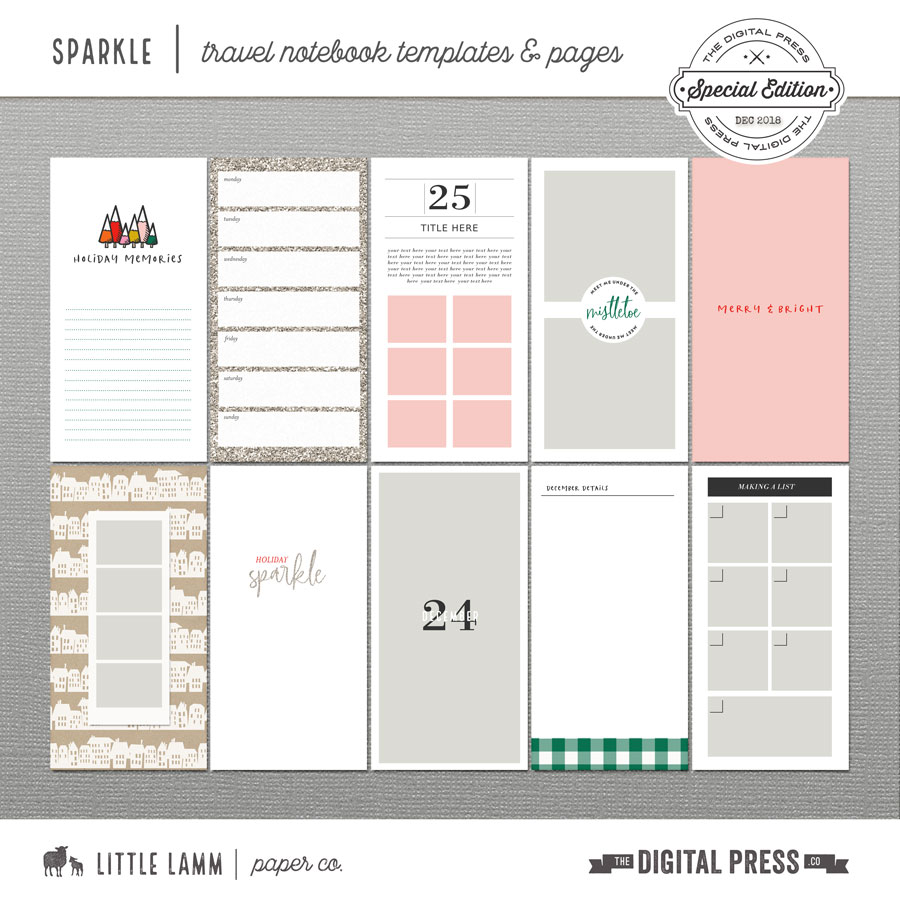 Sparkle | Travel Notebook Templates