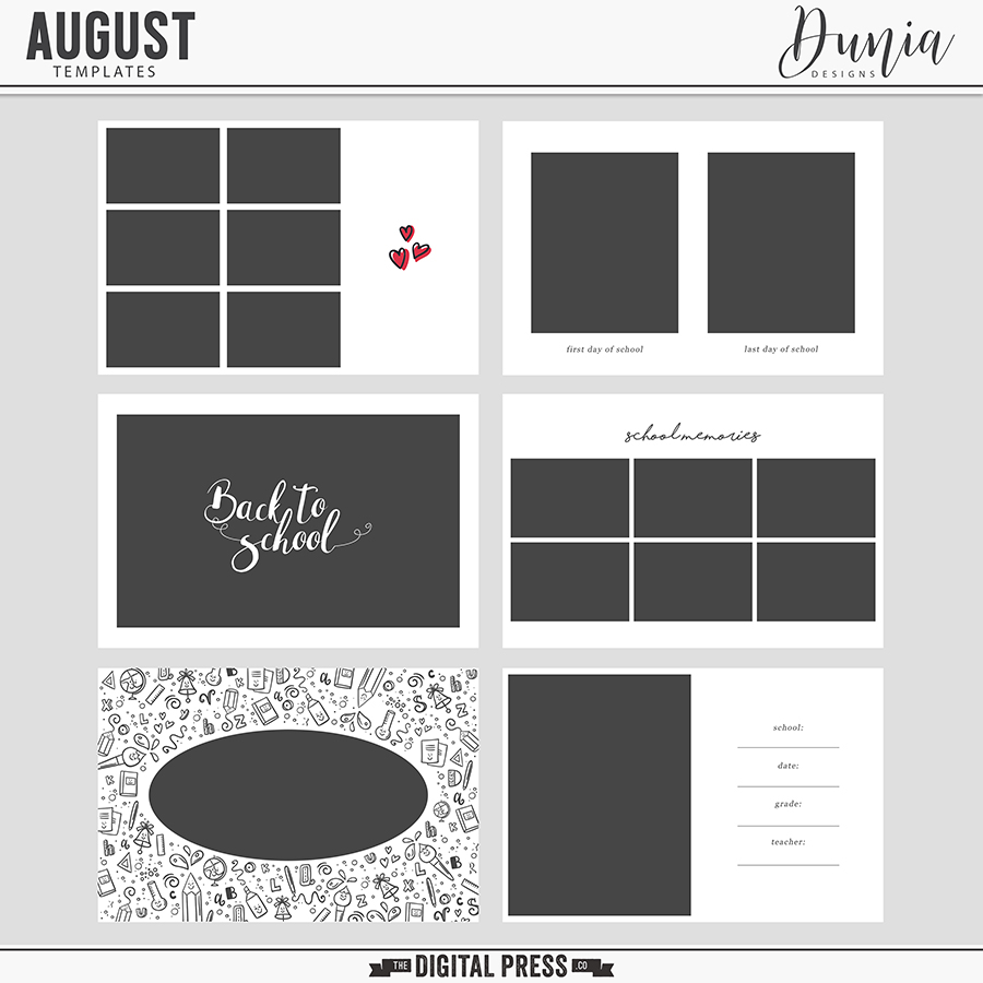 August | Templates