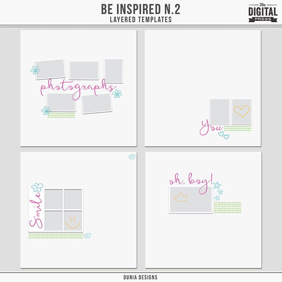 Be Inspired N.2 - Layered Templates