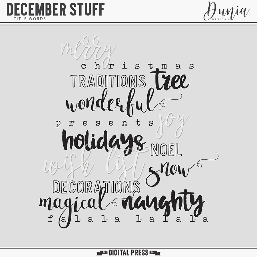 December Stuff | Title Words