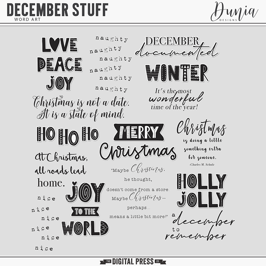 December Stuff | Word Arts