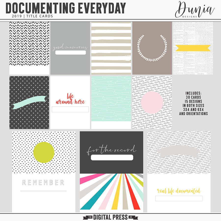 Documenting Everyday (2019) Title Cards