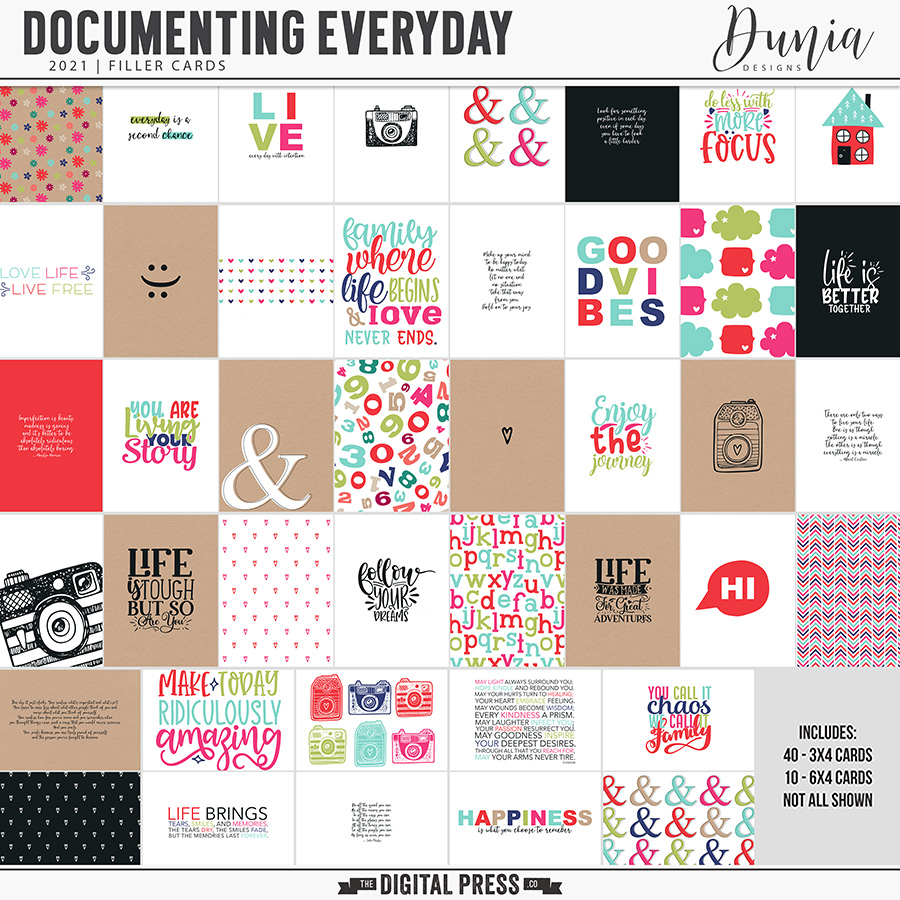 Documenting Everyday 2021 | Filler Cards