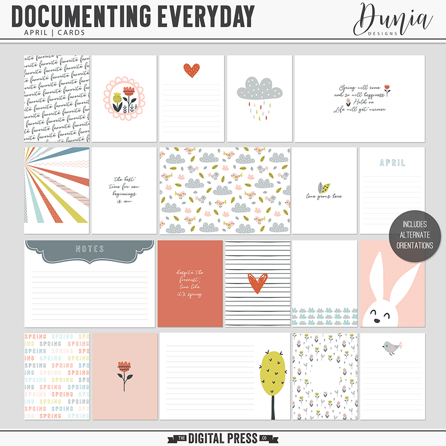 Documenting Everyday | April - Cards