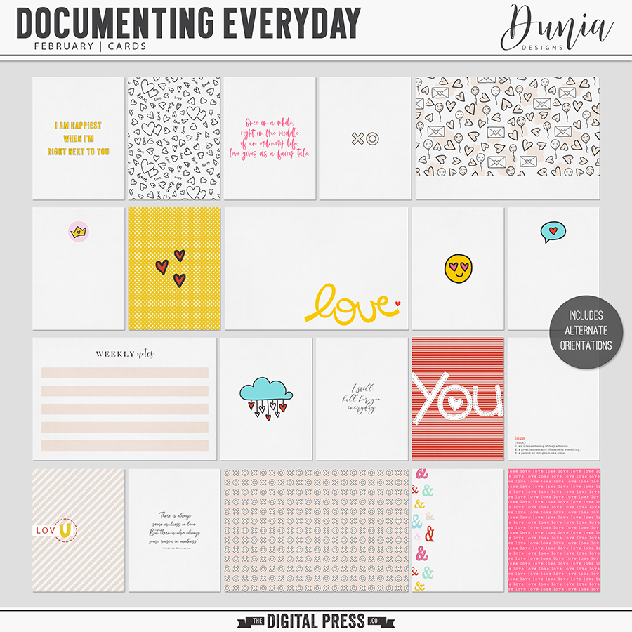 Documenting Everyday | February - Cards