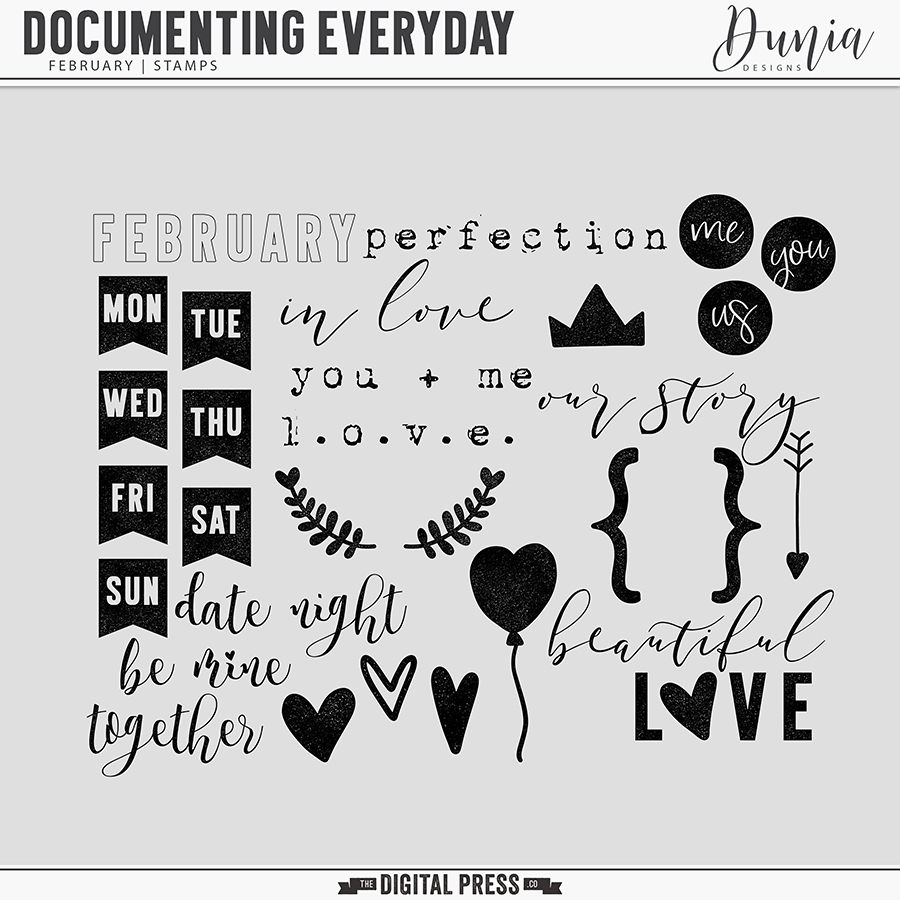 Documenting Everyday | February - Stamps