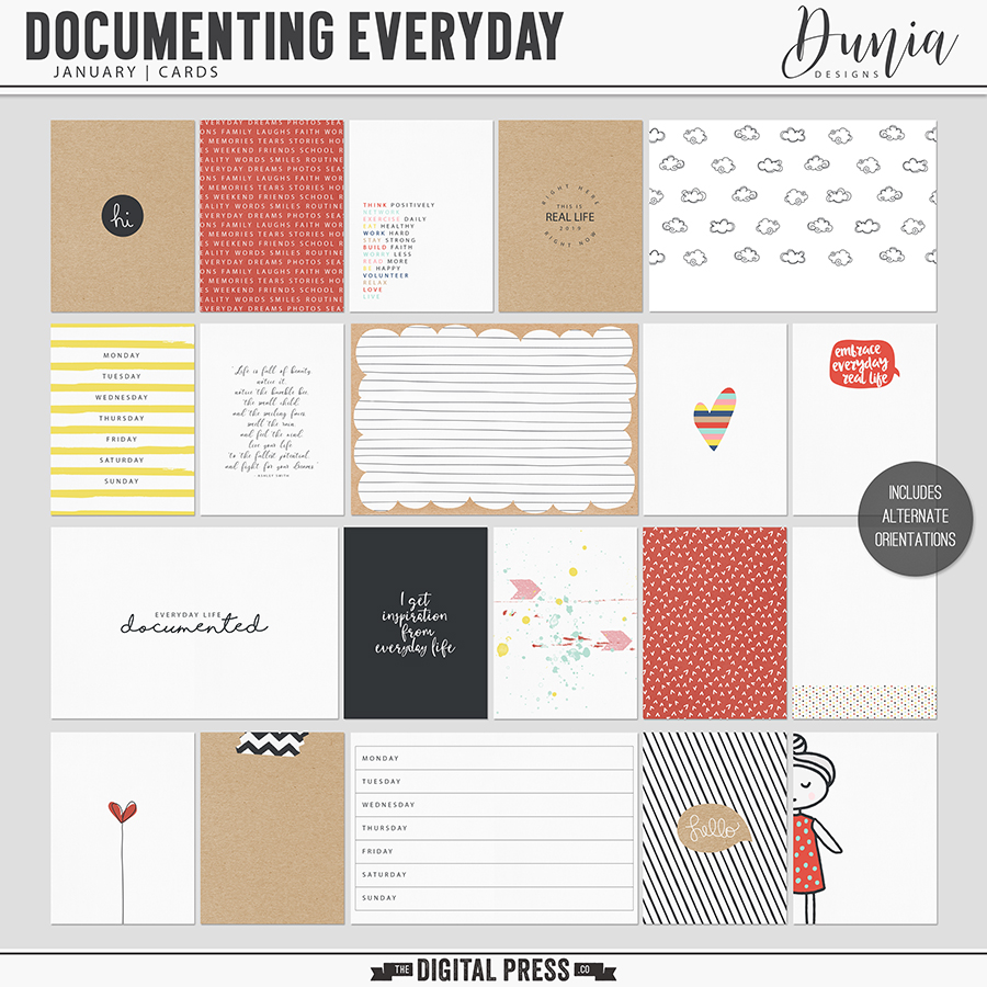 Documenting Everyday | January - Cards