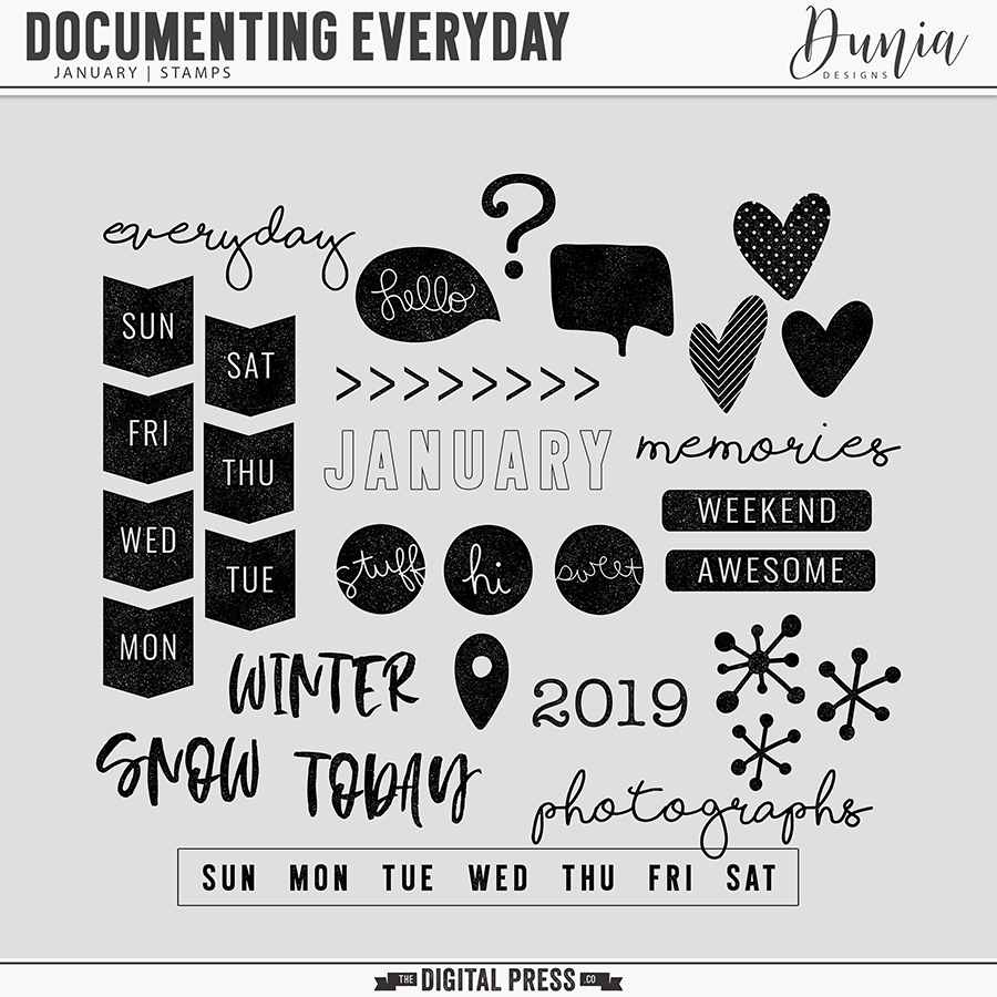 Documenting Everyday | January - Stamps