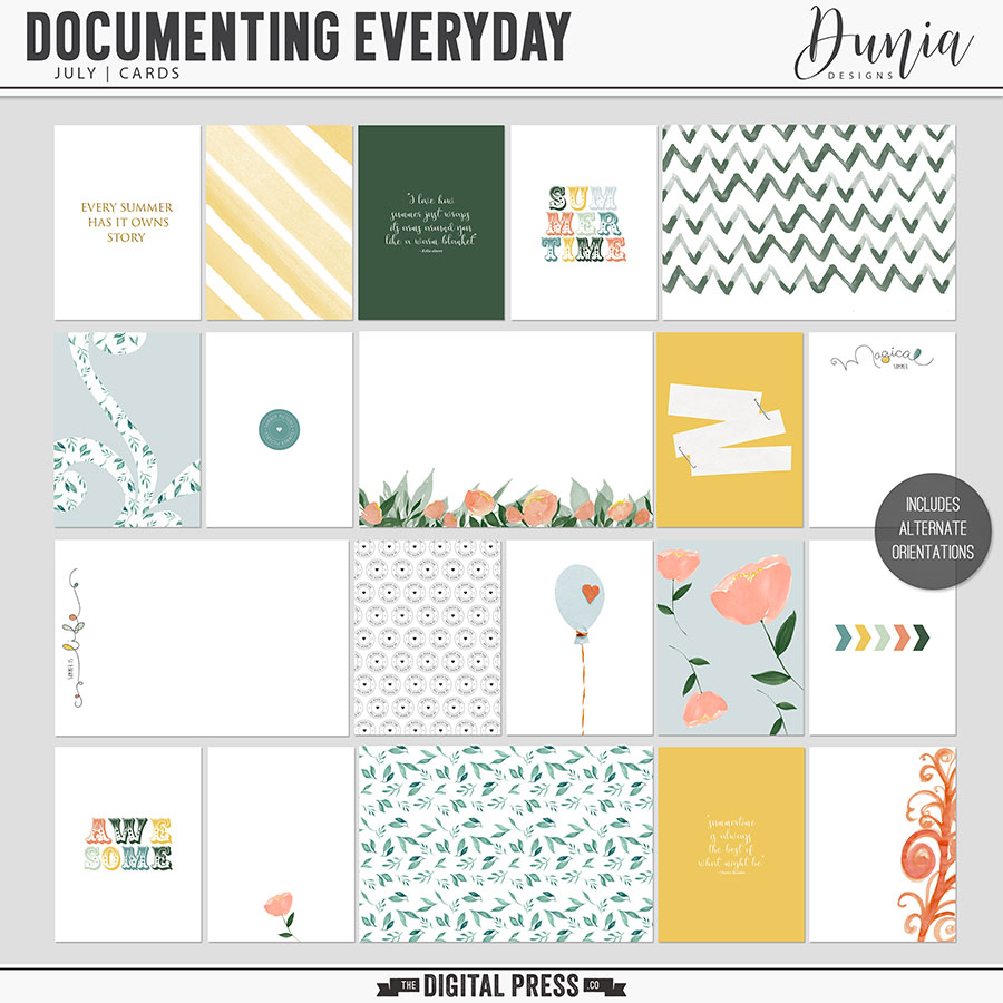 Documenting Everyday | July - Cards