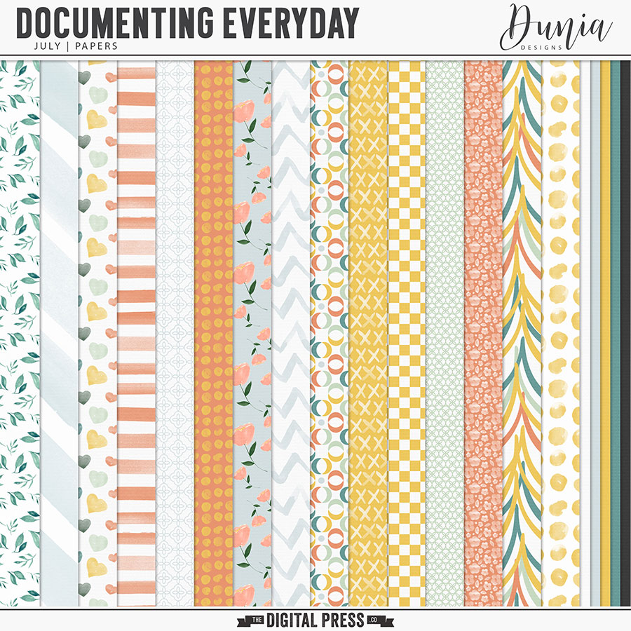 Documenting Everyday   July - Papers