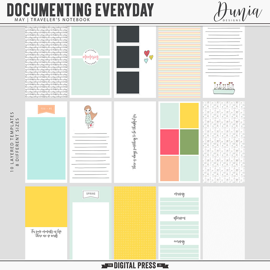 Documenting Everyday | May - Traveler's Notebook