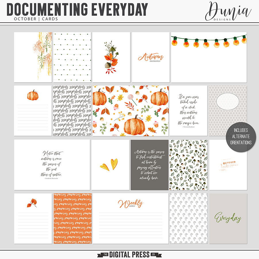 Documenting Everyday | October - Cards