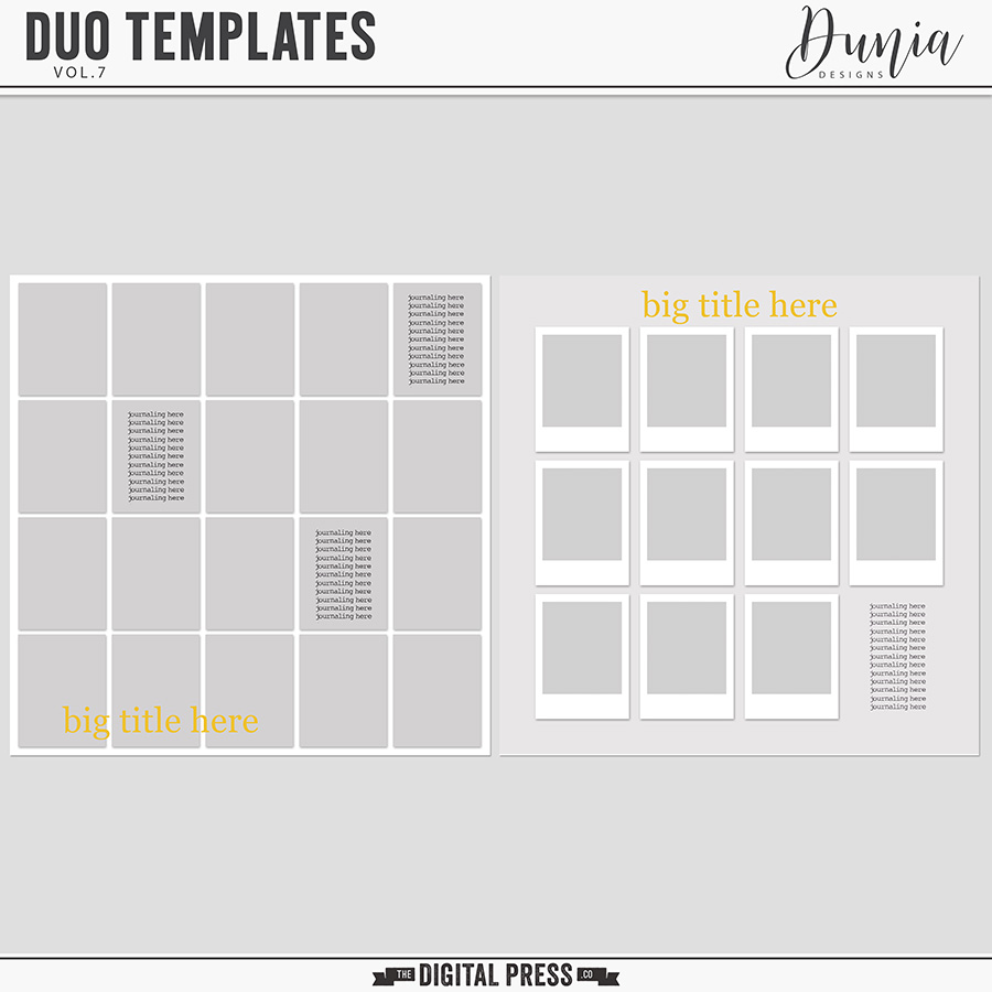 Duo Templates | Vol.7