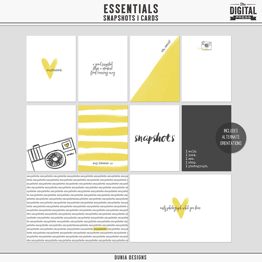 Essentials | Snapshots - Cards