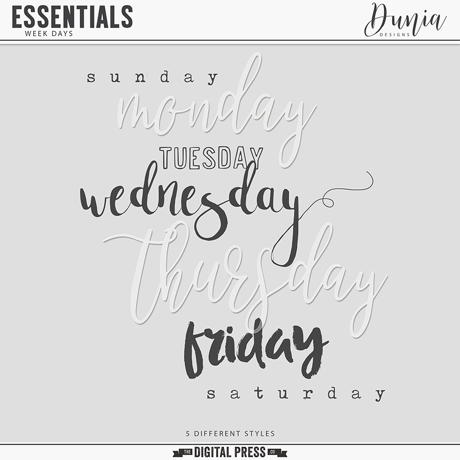 Essentials | Week Days