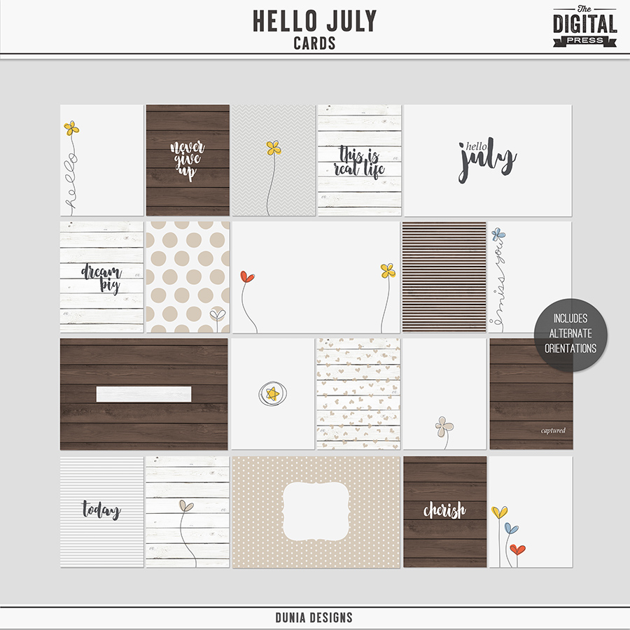 Hello July - Cards