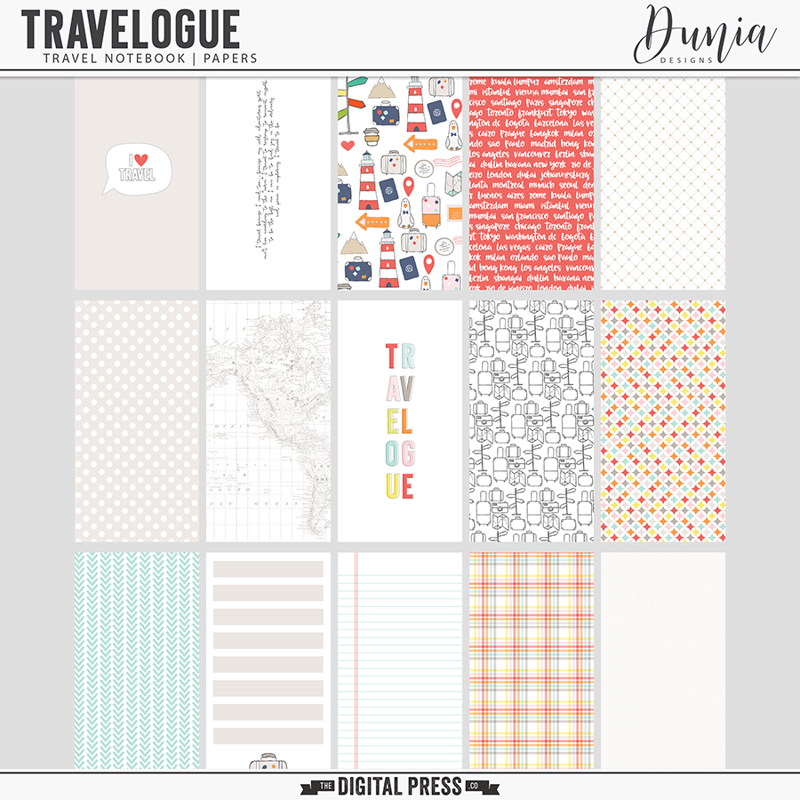 Travelogue - Travel Notebook   Papers