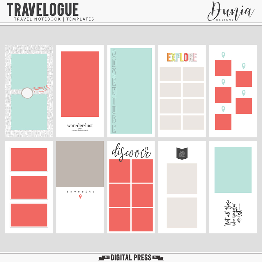 Travelogue - Travel Notebook | Templates