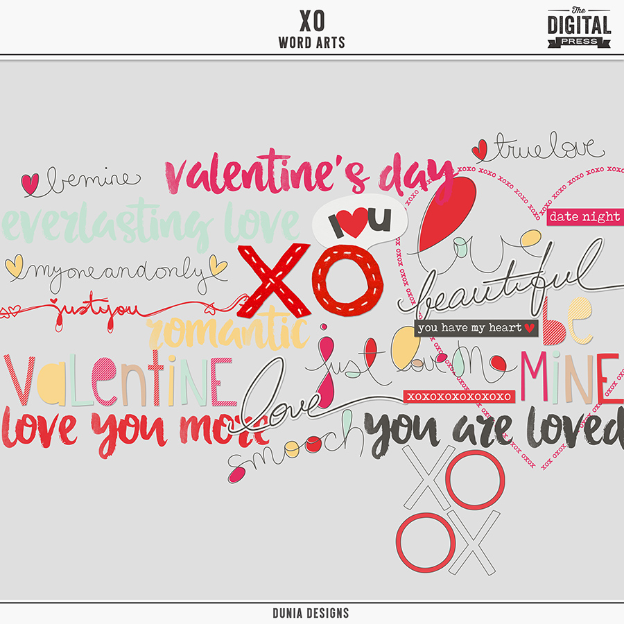 XO | Word Arts