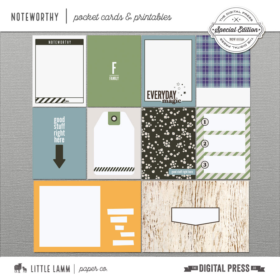 Noteworthy│Pocket Cards and Printables