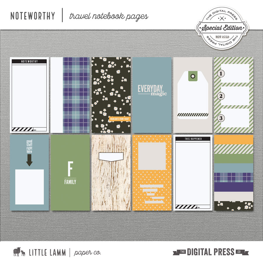 Noteworthy│Travel Notebook Pages