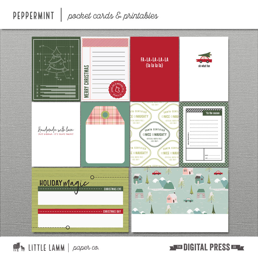 Peppermint | Pocket Cards and Printables