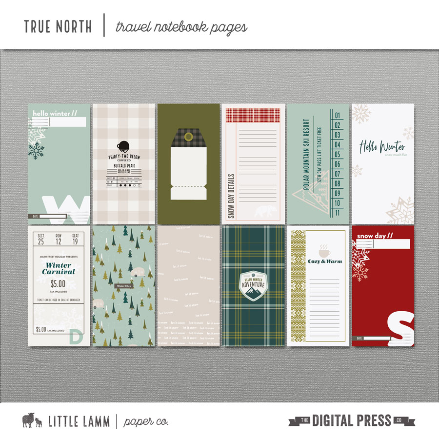 True North│Travel Notebook Pages
