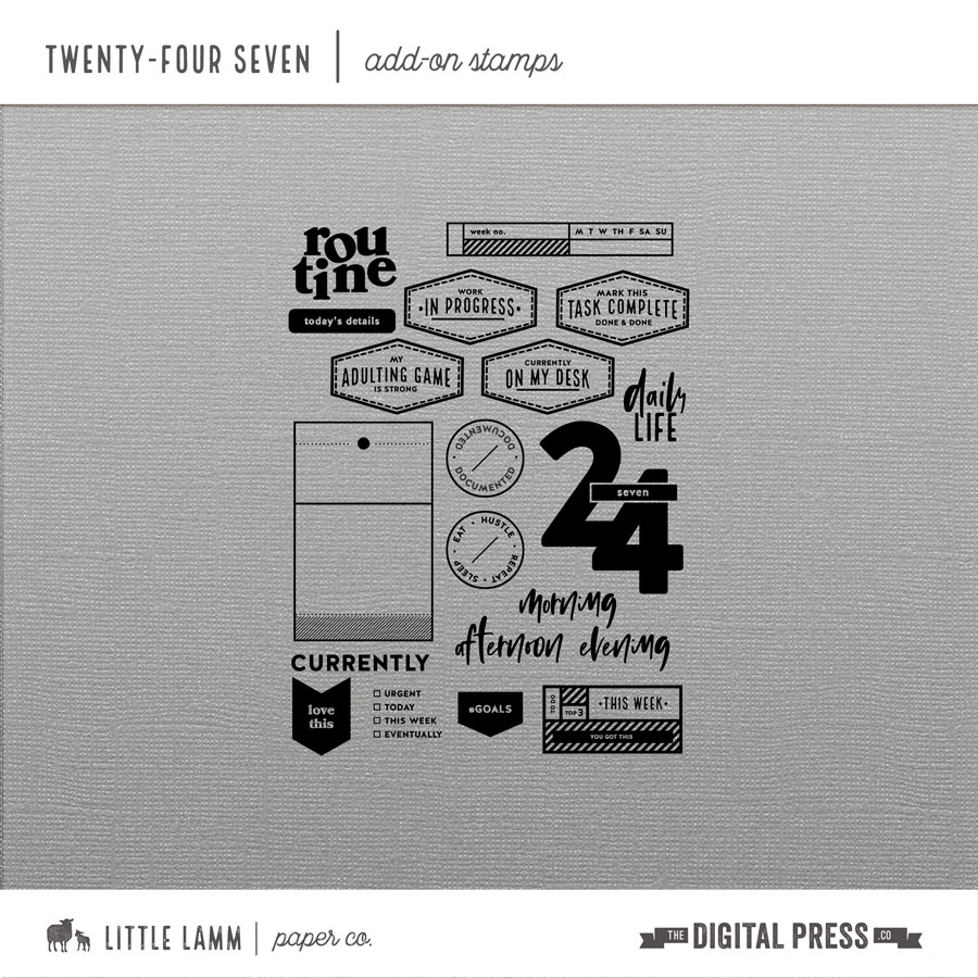 Twenty-Four Seven | Add-On Stamp Set