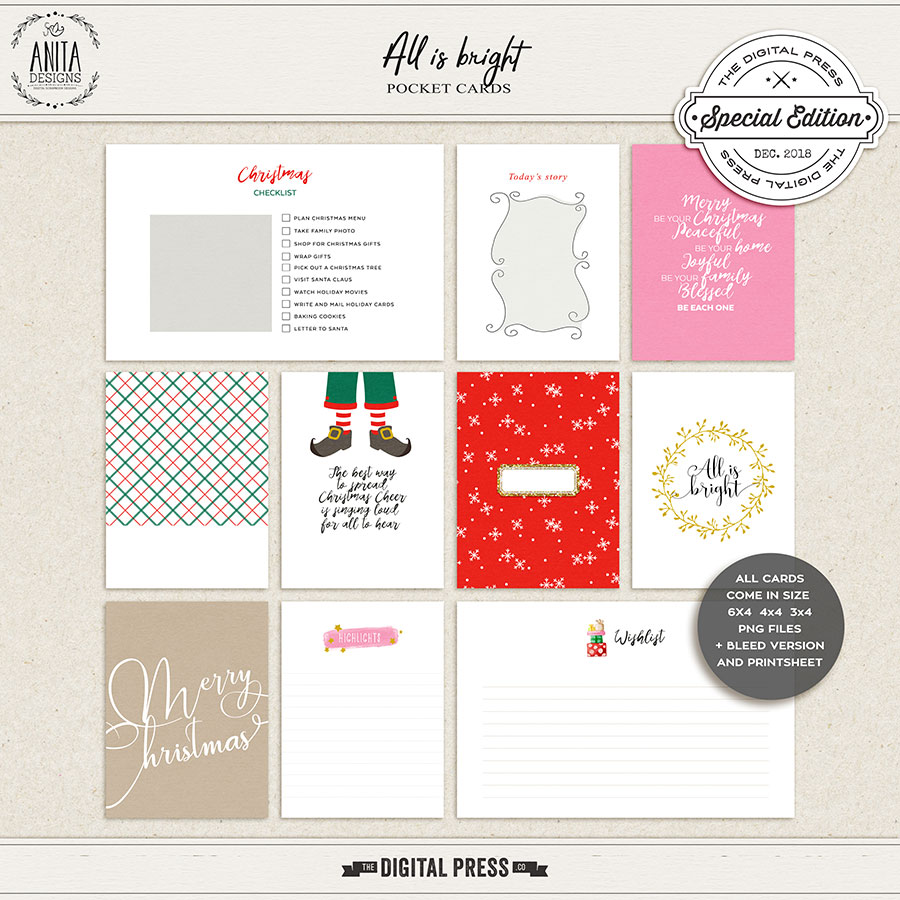 All is bright | pocket cards