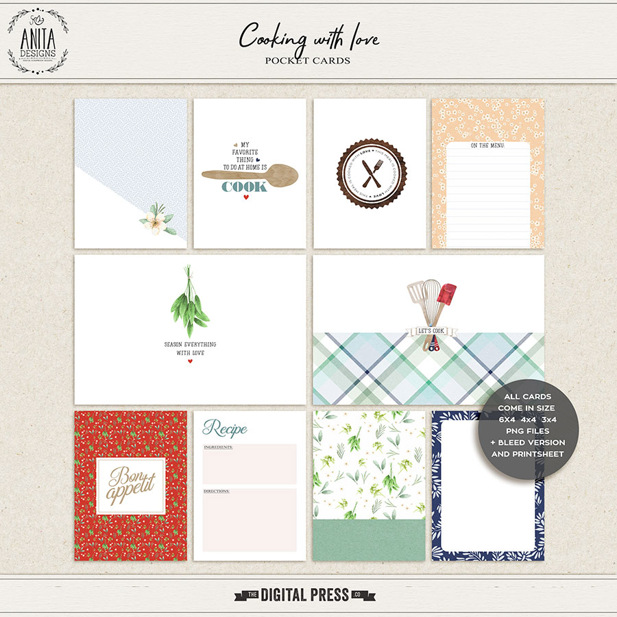 Cooking With Love | Pocket Cards