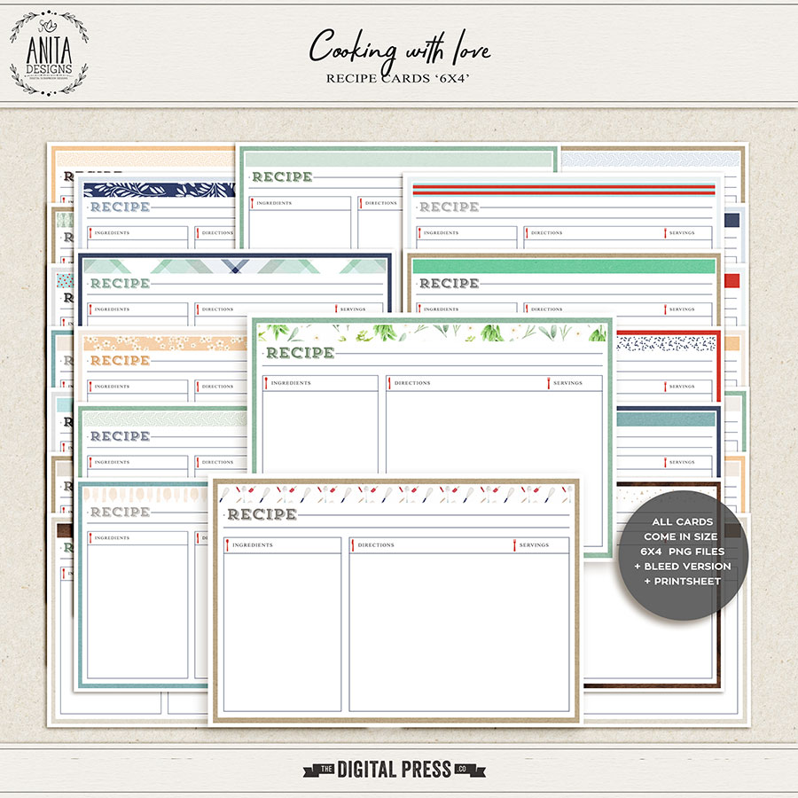 Cooking with love | Recipe cards