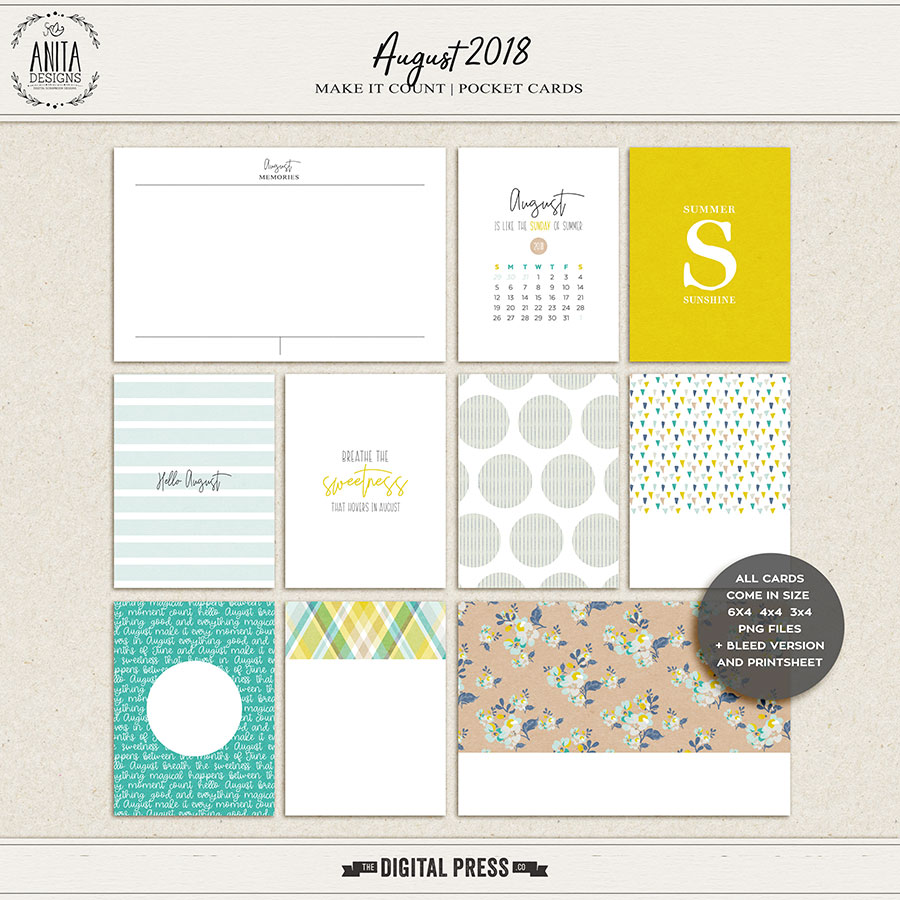 Make it Count: August 2018 | Pocket Cards