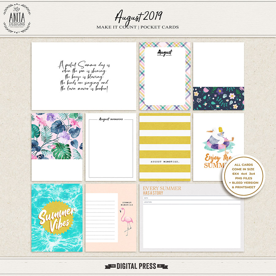 Make it Count: August 2019 | Pocket Cards