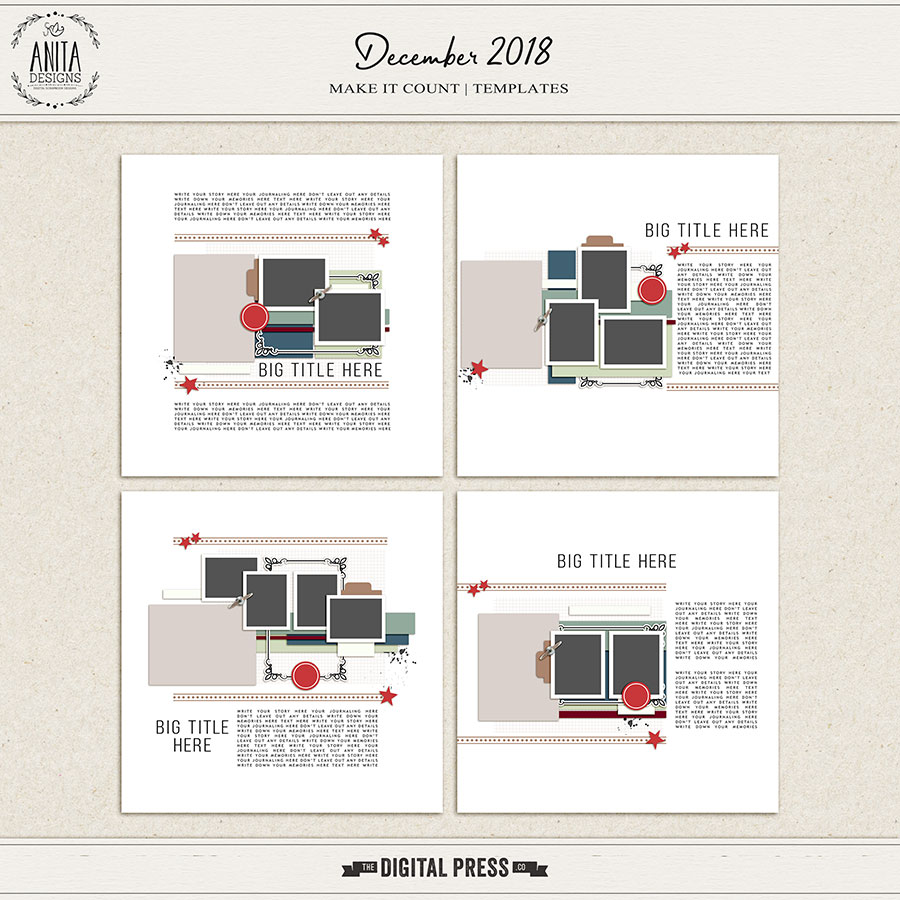 Make it Count: December 2018 | Templates