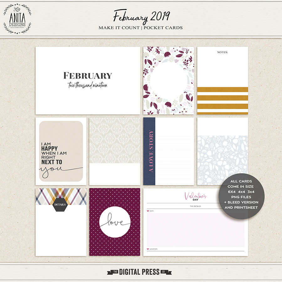 Make it count: February 2019 | pocket cards
