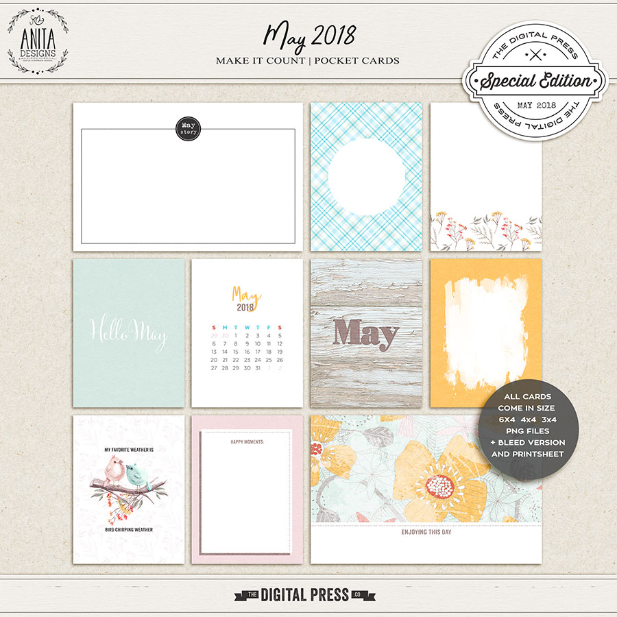 Make it count: May 2018 | pocket cards