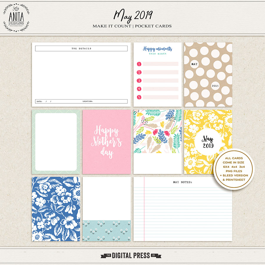 Make it Count: May 2019 | Pocket Cards