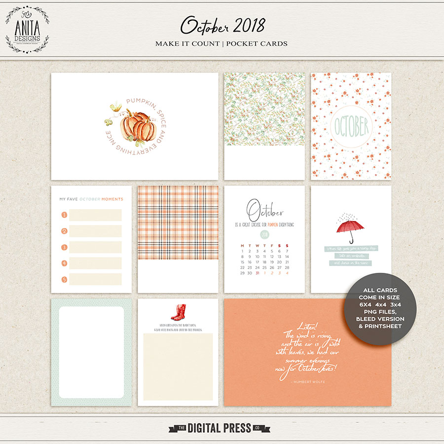Make it count: October 2018 | pocket cards