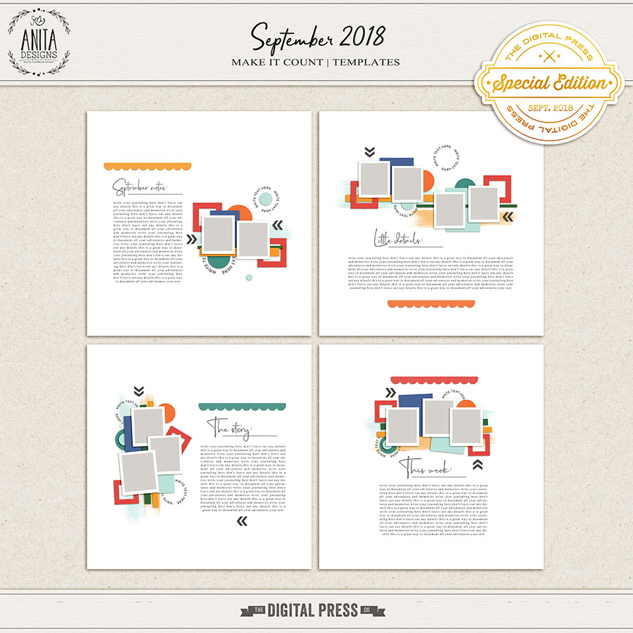 Make it count: September 2018 | templates