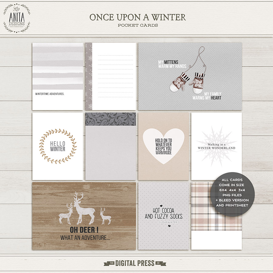 Once upon a winter | Pocketcards