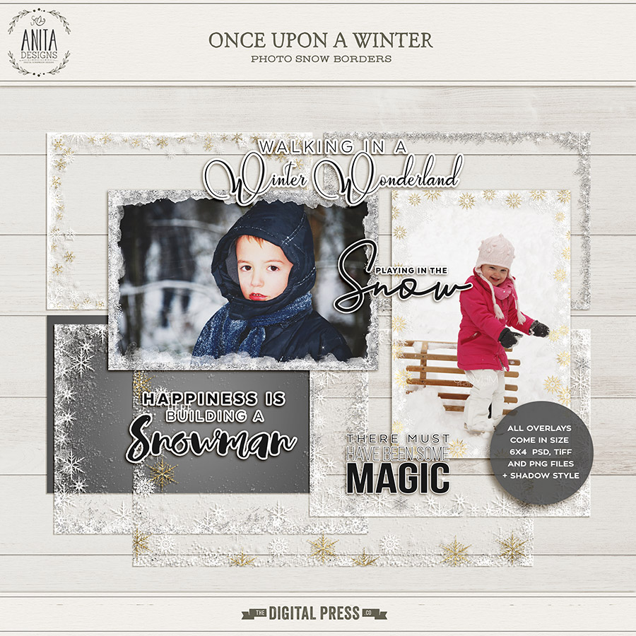Once upon a winter | Photo overlays